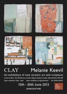 Ceramic Art Exhibition poster for Art Barn, Preston Bagot