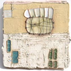 Ceramic Art tile inspired by the Tanneries, Barjols, Provence, France