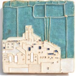 Ceramic Art tile inspired by Saint-Paul de Vence, France