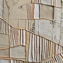 "Ceramic Art Close up Detail of ""Lizard Point"", wall panel inspired by Cornish Landscape"