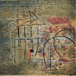 Collograph on paper 19x19cm